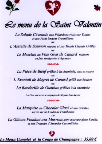 Id e menu st valentin vendelices - Repas simple saint valentin ...