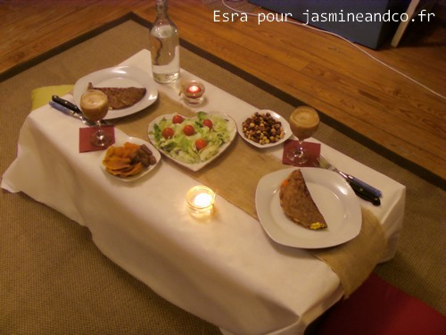 repas a deux en amoureux vendelices. Black Bedroom Furniture Sets. Home Design Ideas